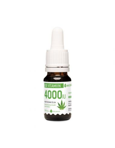 Vitamiin D3, mahe kanepiõli 4000 IU