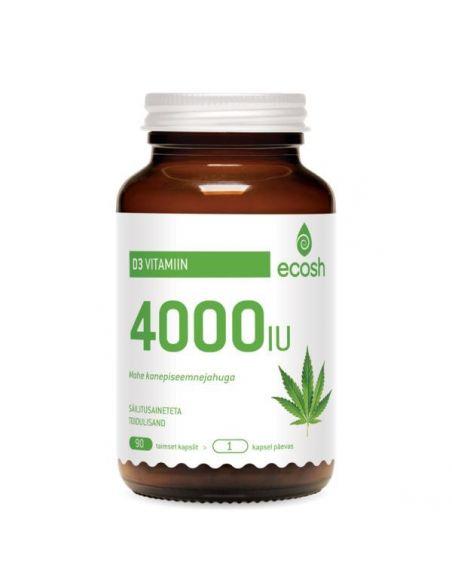 Vitamiin D3, 4000IU/kapsel