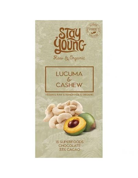 Mahe Suhkruvaba tooršokolaadi tahvel lucuma ja india pähklitega