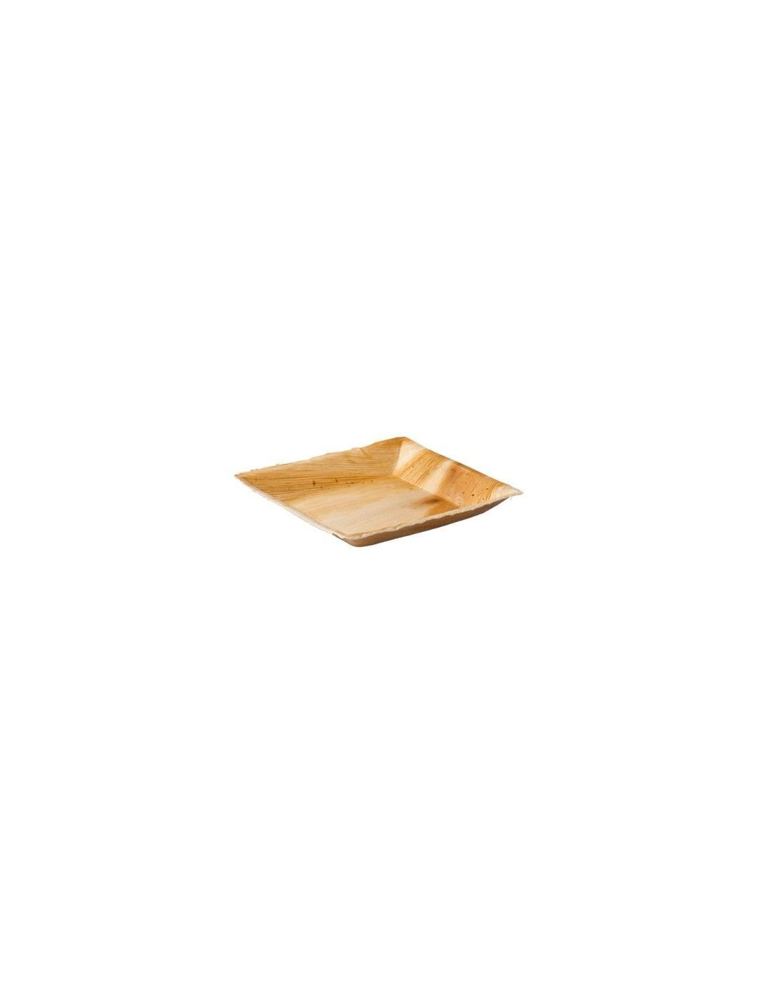 Palmilehest kandiline taldrik 18 x 18 cm
