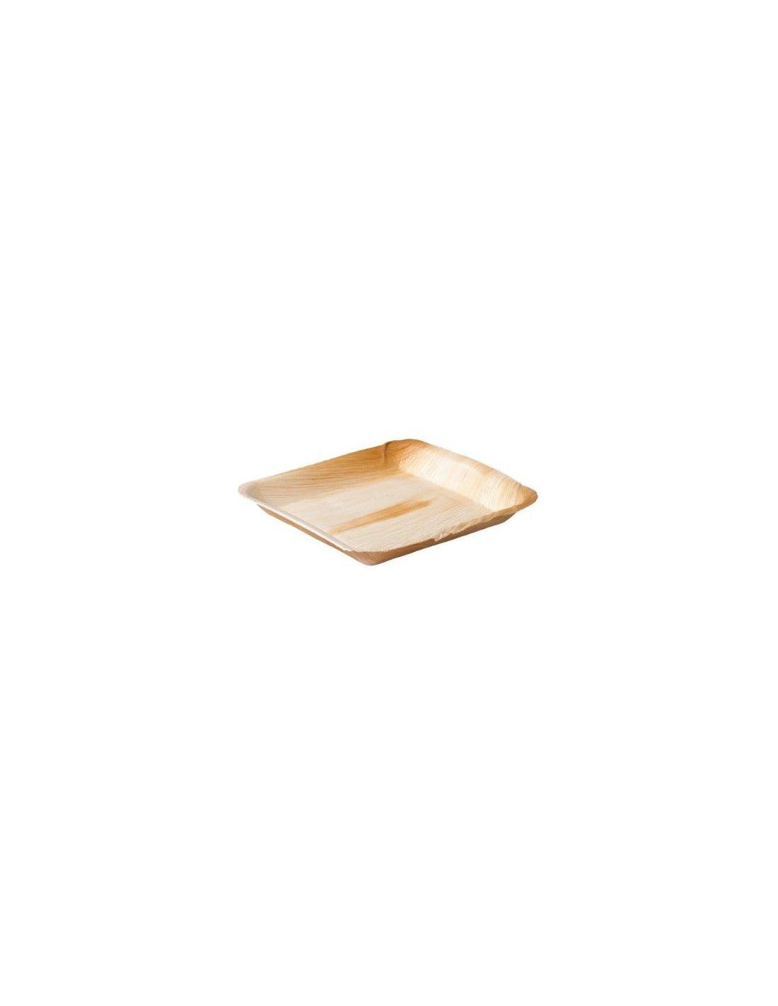 Palmilehest kandiline taldrik 24 x 24 cm