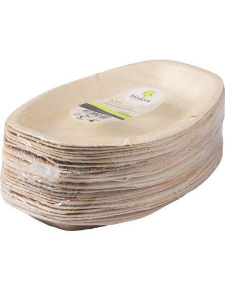Palmilehest ovaalne taldrik 30 x 20 x 2,5 cm