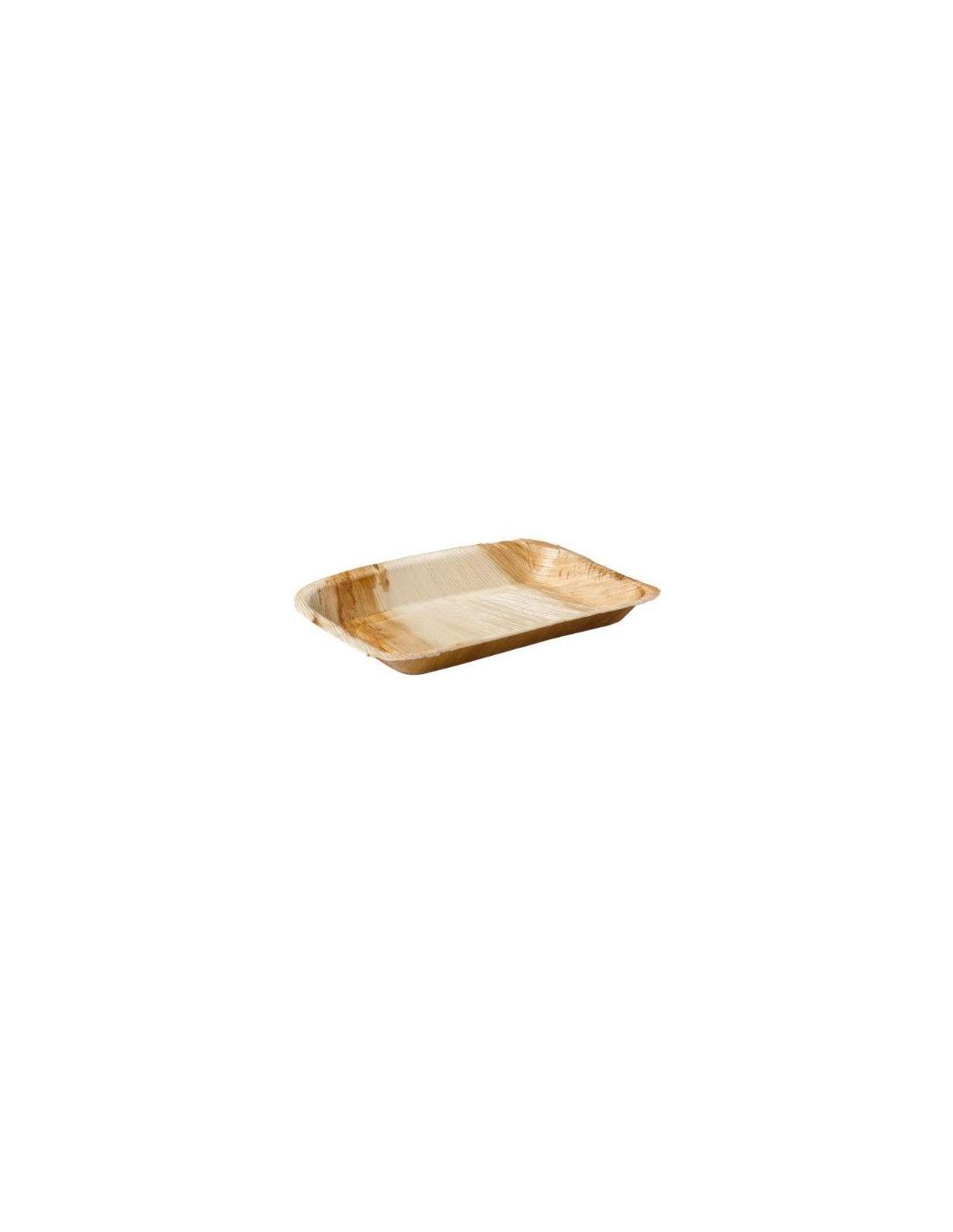 Palmilehest Ristkülikukujuline Taldrik 24 x 16 cm