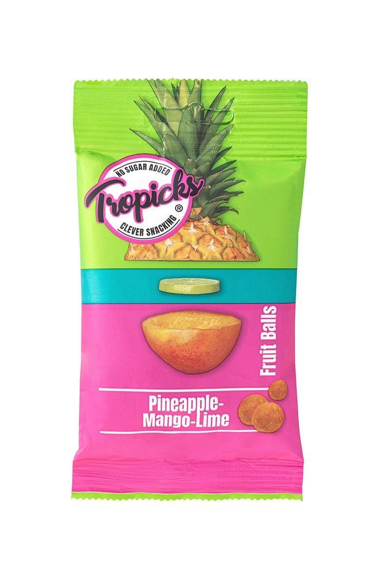 Kuivatatud ananassi-mango-laimipallid 50g